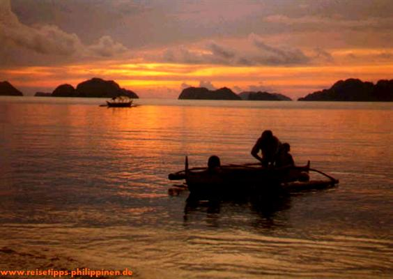 Sunset at the Bacuit Archipelago, El Nido